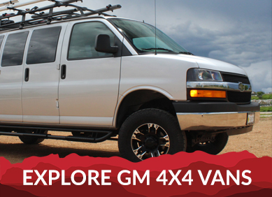 4x4 Van Conversions For Nissan GM And Ford Vans