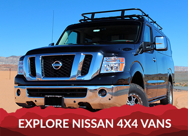 4x4 Van Conversions for Nissan, GM, and Ford Vans